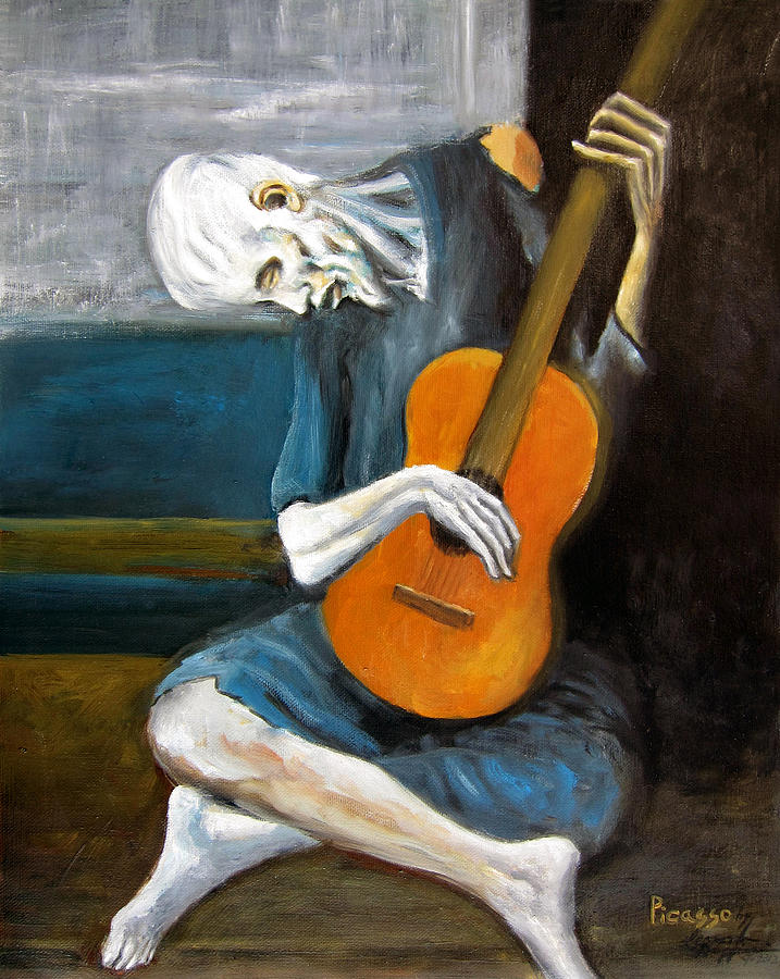 the old guitarist pablo picasso analysis